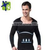 Mens Body Shaper Long Sleeve Undershirt 321 GY Sport Corset Slimming Girdle Shapewear Underwear