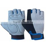 Navy-Blue And White Color Cycling Sports Wear Gloves