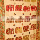 Amazing Spring Collection!!! Multi Patchwork colorful Elephant design Indian handmade Bedspreads