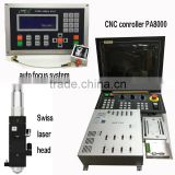 laser head and auto focus system and CNC controller for building CNC fiber cutting machine
