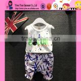 Fashion Summer Hot Sale Two Piece Clothes Wholesale Short Sleeveless Cheaper Baby Boy Doll Clothes