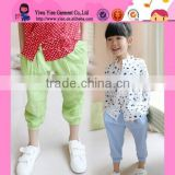Factory Direct Summer Fashion Baggy Trousers Wholesale Korean Candy Color Thin Cotton Pants For Girls