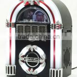 Bluetooth Jukebox MP3 Speaker Player LED Lighting, AM/FM Radio, USB/SD Readers with Aux Input for gifts