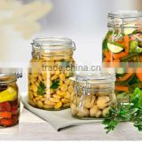 Kitchenware glass storage jar round glass jars and lids350ml/glass bear shape jar