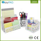 EasyPAG 3 in 1 white luxury metal executive office desk organizer set