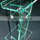 "24"" Standard Glass Color Podium - Green Tint (LE-G023)"