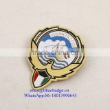 Newest Cheap Custom Die Cast Metal Badge For UAE National Day Gift Items Ribbon Lapel Pin With Magnet