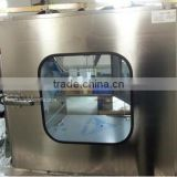 Laboratory clean transfer window Electronic Interlock Pass Box for Pharmaceutical Cleanroom