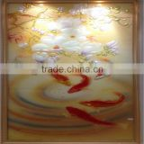 glass flower wall art , acrylic glass wall art, fused glass art