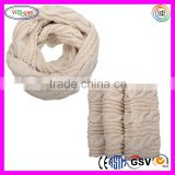 C538 Womens Thick Ribbed Knit Winter Scarf high Quality Infinity Circle Loop Knit Scarf