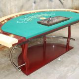 LANGE Wood Leg Luxury Poker Table For Blackjack Baccarat Caribbean