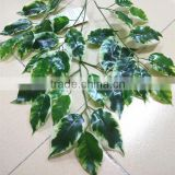 SJ7001008 artificial plastic ficus leaves/Chinese silk banyan tree leaf