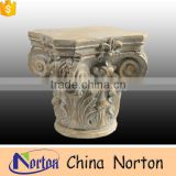 architectural marble carved flower pillar caps design NTMF-CP015Y