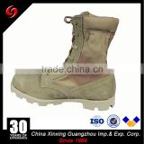 Suede Leather and Canvas Military Tactical Boots / Waterproof Canvas Combat Jungle Military Boots