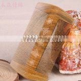 Both sides of wooden comb;comb