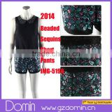 2014 New Fashion Beaded and Sequin Ladies Embellished Short Pants