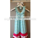 NEW Girls Boutique Red White & Turquoise Chevron Maxi Dress