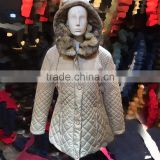 2016 Coutudi Mexican clothes brand dropship casual embroidered thick real fur winter hooded coat