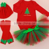 Top selling 3pcs Newborn Baby Girls Long Sleeve Tree Tops Pants Hat Outfits