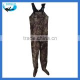 camo neoprene breathable chest fishing waders