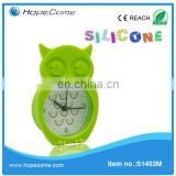 Soft natural silicon mould table clock