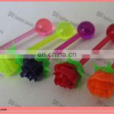 Silicone tongue barbell body piercing jewelry