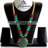 fashion Costume Imitation Artificial jewelry-Indian Handmade Beaded Jewelry-party wear jewelry-Beaded Necklace Jewelry