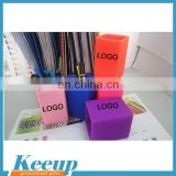 2016 hot sale cheap custom quality colorful creative silicone rubber pen holder