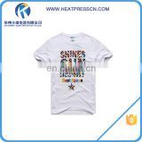 100% Cotton T-Shirt Printing With heat press printing