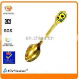 cheaper gold epoxy resin stick blank space souvenir spoon
