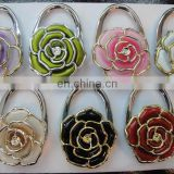 beautifull Flower shape bag hanger Blank colouful Hook, Blank custom bag hanger & purse hangers