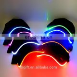 Hot-sale soft led flashing baseball cap for party event in the dark