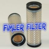 Replacement vacuum pump Air Filter Cartridge 0532500046, Seco SD 1140 C, SV 1140 C, PDC 0140