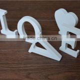 Accept OEM solid white wooden letter,small wood letters                                                                         Quality Choice