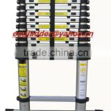 3.85m Aluminium Telescopic ladder with Stabilizer Bars/Carry bags/1.5cm Finger safety gap