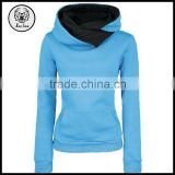 Western Style Slim Fitted Women Long Elongated Hoodies With Hat