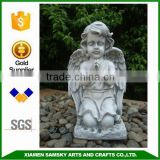 Kneeling praying angel resinic figurine