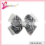 The most popular animal stripes hair decoration ribbon bow hairgrips (DW--0031)