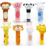 Babyfans cute design soft plush toy hot sale baby rattle good quality baby toys BB sticks