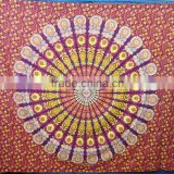 new arrival mandala round printed bedsheet Boho bohemian cotton bedspread wall hanging