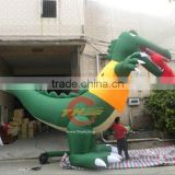 customized large inflatable shark, inflatable shark slide