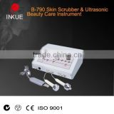 B-790 2 in 1 electric handle ultrasound extraction equipment+ physical therapy skin scrubber beauty machine wholesale