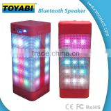 bluetooth speaker with LED lighting support for external MP3/MP4/computers and other audio input function