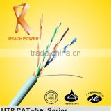 99.99% bare copper conductor lan cable cat 5e connectors