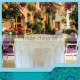 home garden tablecloth of machine made embroidery designs with gold price for party decoration