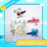 Different size metal butterfly hair clips