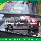 clear 2mm acrylic car model for display, transparent plexiglass car model with 300*150*130mm
