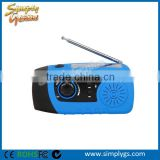 (FBA, Dropshipping, OEM) Portable fm radio power bank, Dynamo LED Flashlight Power Bank, FM Emergency Radio