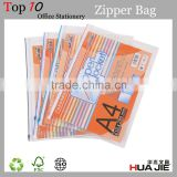 transparent zipper document bag zipper file folder bag pvc zipper pouch bag for pen pencile