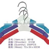 801B non-slip colorful hanger & plastic expandable clothes hanger & children hanger on sales